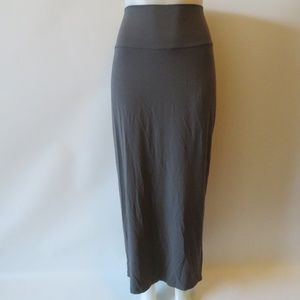 EILEEN FISHER GRAY MAXI SKIRT SIZE LARGE